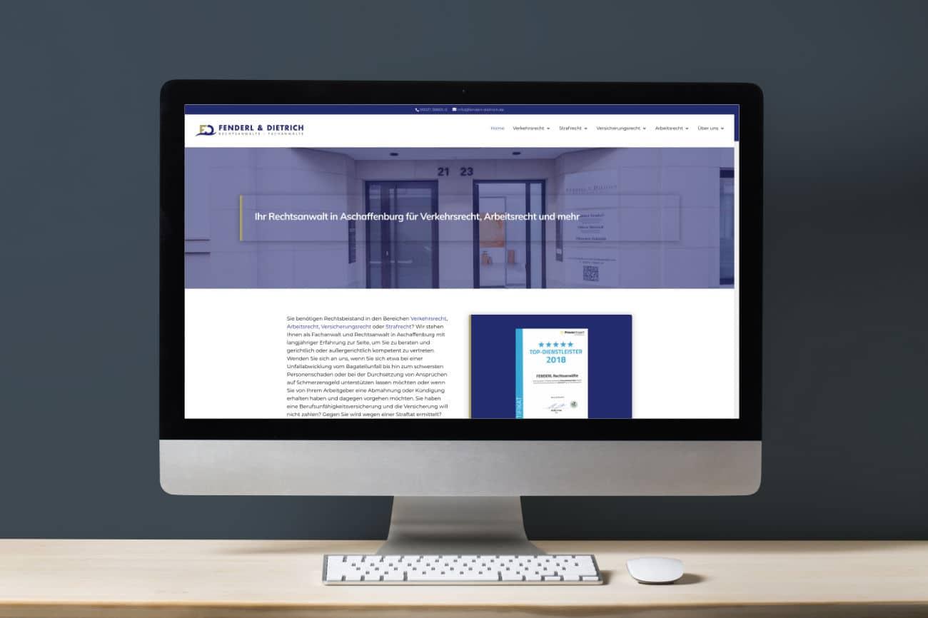 Fenderl & Dietrich Rechtsanwälte - Neue Webseite