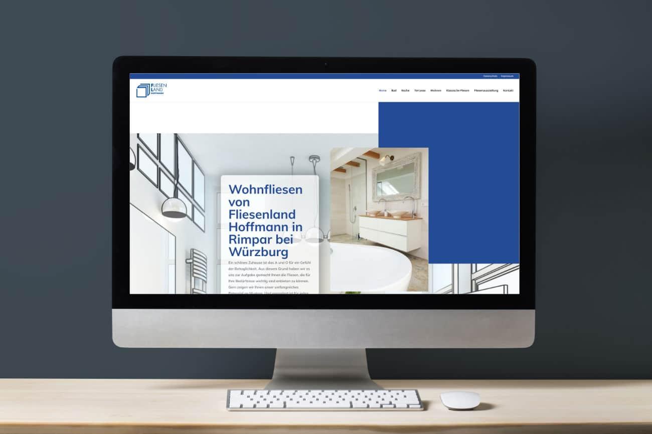 FL Fliesenland Hoffmann - Fliesen in Rimpar bei Würzburg - modernes Webdesign