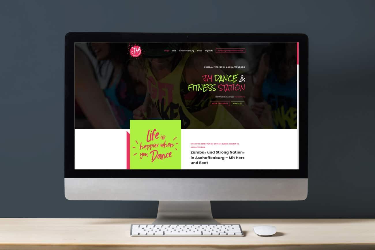 JM Dance and Fitness Station - Zumba in Aschaffenburg - eine farbige und moderne Webseite