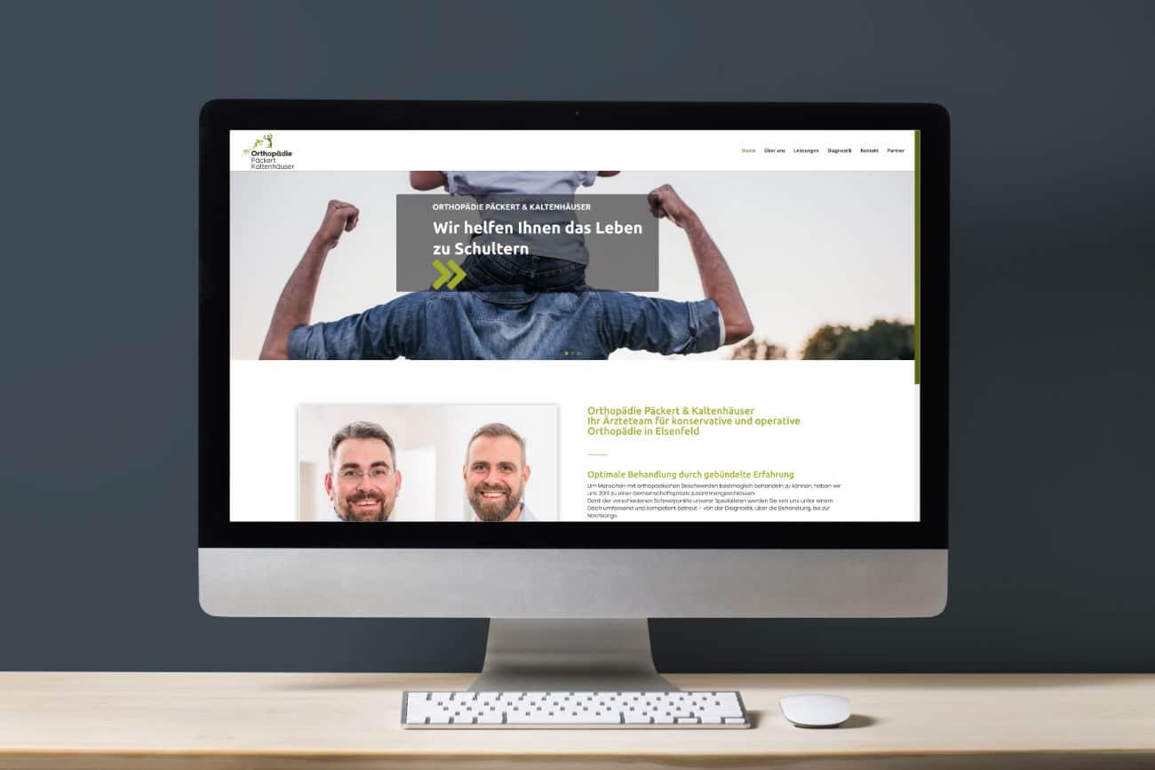 Orthopädie Päckert und Kaltenhäuser in Elsenfeld - schlichtes und modernes Webdesign