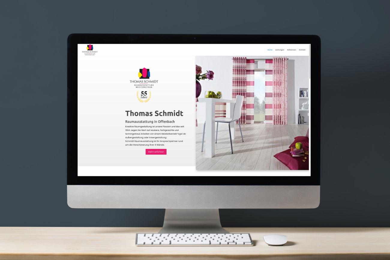 Thomas Schmidt Raumausstattung in Offenbach - moderne und umfangreiche Webseite